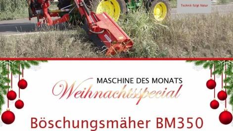 "Maschine des Monats ""Weihnachtsspecial"" – Böschungsmäher BM350"